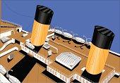 The Titanic deck