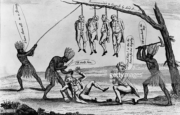The 'Tories' Loyalists who supported the British during the American War of Independence being slaughtered by the colonials who are represented as...