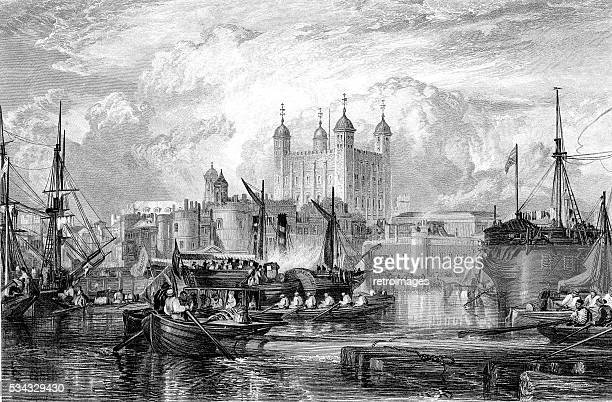 The Tower of London, engraved by Miller published 1831 (illustration)