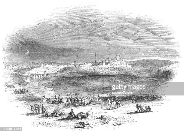 The Town of Shrewsbury in Shropshire, England