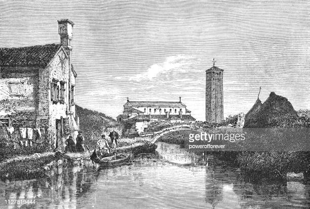 The Town of Torcello in Veneto, Italy - 19th Century