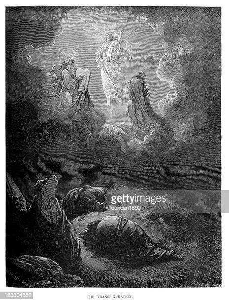 illustrations, cliparts, dessins animés et icônes de la transfiguration de jésus-christ - ascension of jesus christ