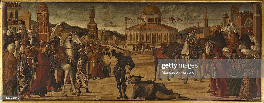 The Triumph of St George, by Vittore Carpaccio, 1504 - 1507, 16th Century, oil on canvas, cm 141 x 360. : Fine art