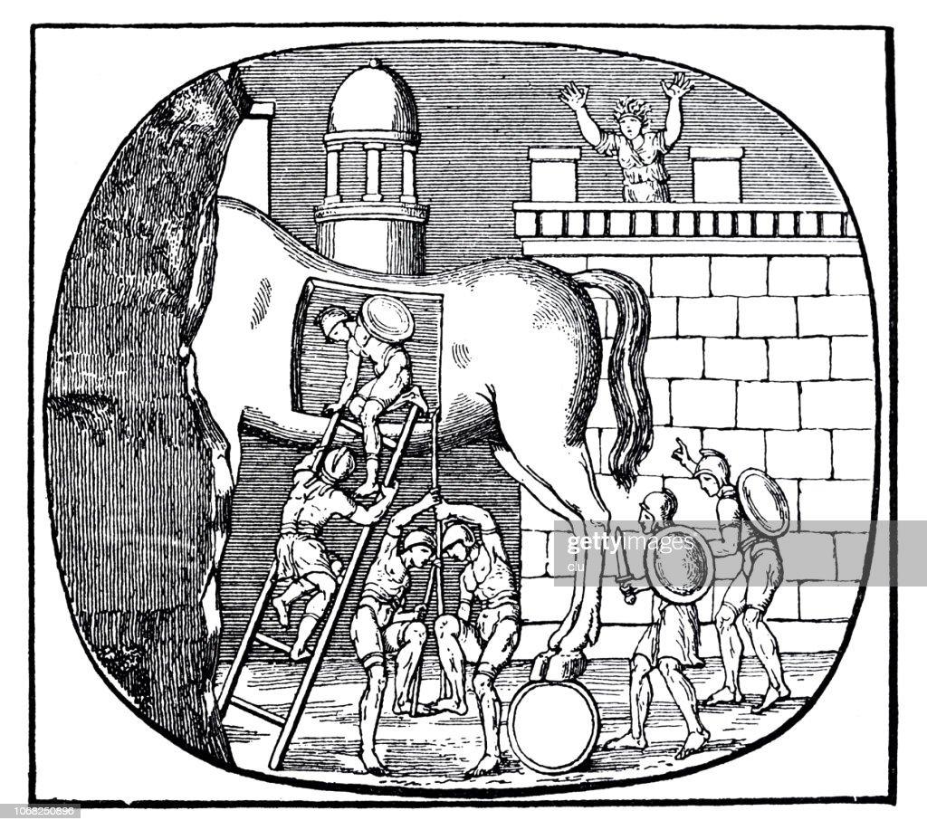 The Trojan Horse : stock illustration
