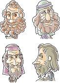 The Twelve Apostles of Jesus - Peter, Andrew, James, John