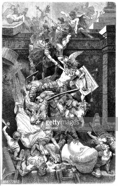 The Vandals attacking Rome, Italy In 455 AD