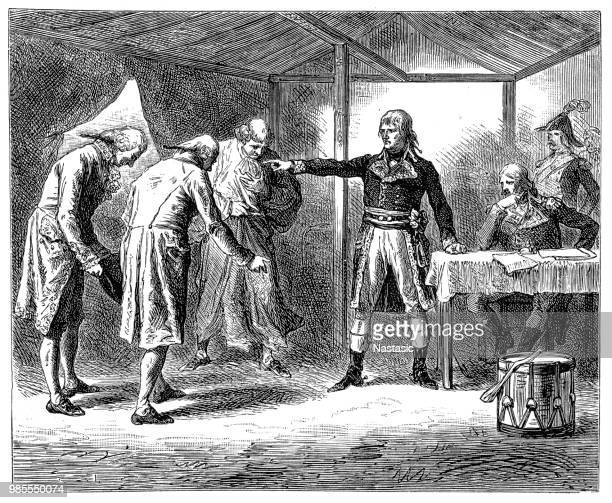 illustrations, cliparts, dessins animés et icônes de le sénat vénitien, envoie une ambassade au général bonaparte - guerres napoléoniennes