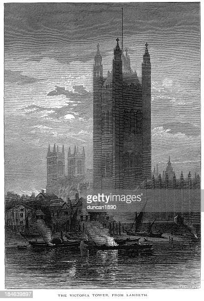 The Victoria Tower from Lambeth