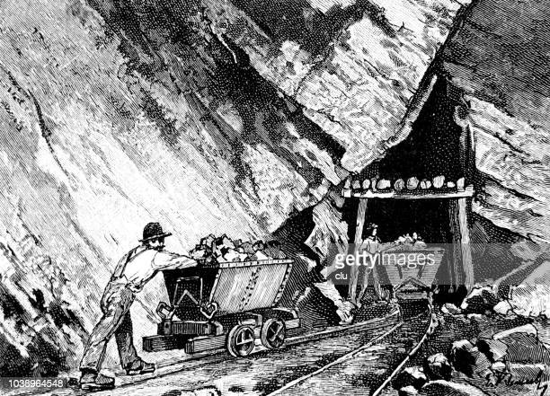 The village of Eisenerz, Austria - Entrance into the conveyor tunnel