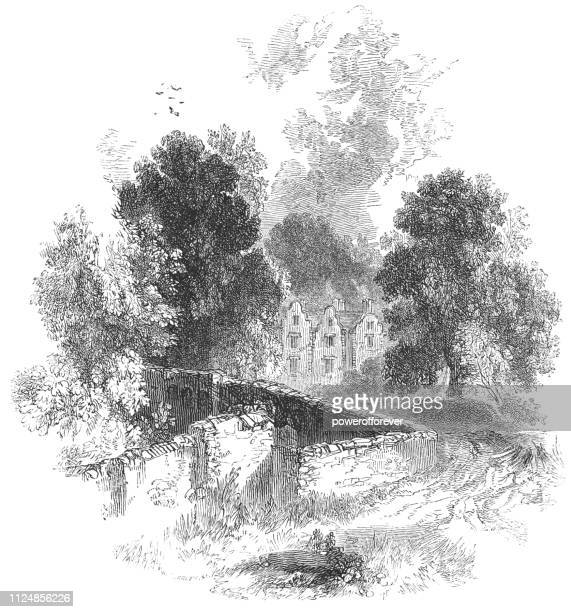 The Village of Harefield in England - 17th Century