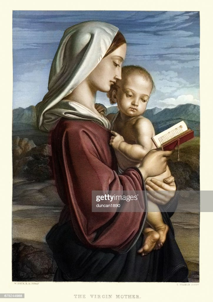 The Virgin Mother by William Dyce : stock illustration