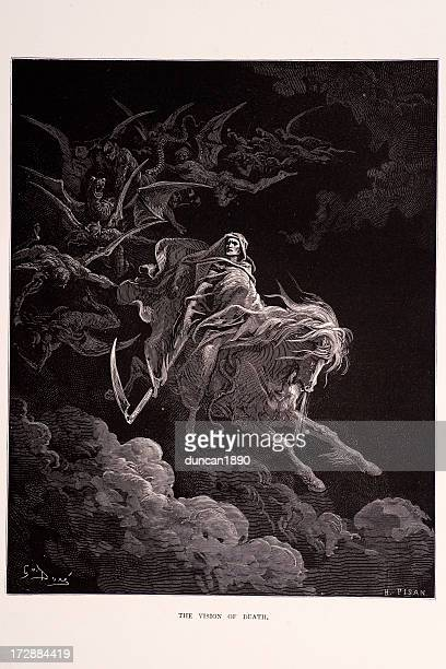the vision of death - gustave dore stock illustrations, clip art, cartoons, & icons