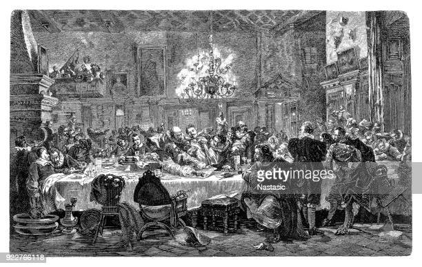 The Wallenstein Palace in Prague ,Banquet of the Wallenstein Generals