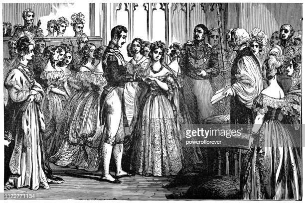 ビクトリア1世の結婚式、イングランド女王、サックス・コーブルクとゴタのアルバート王子 -19世紀 - セントラル・ロンドン点のイラスト素材/クリップアート素材/マンガ素材/アイコン素材