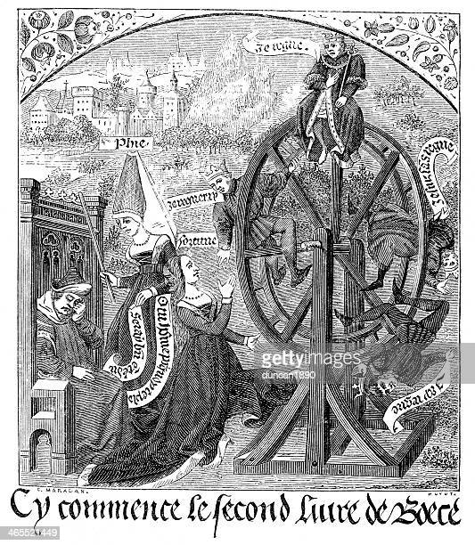 the wheel of fortune - tarot cards stock illustrations, clip art, cartoons, & icons