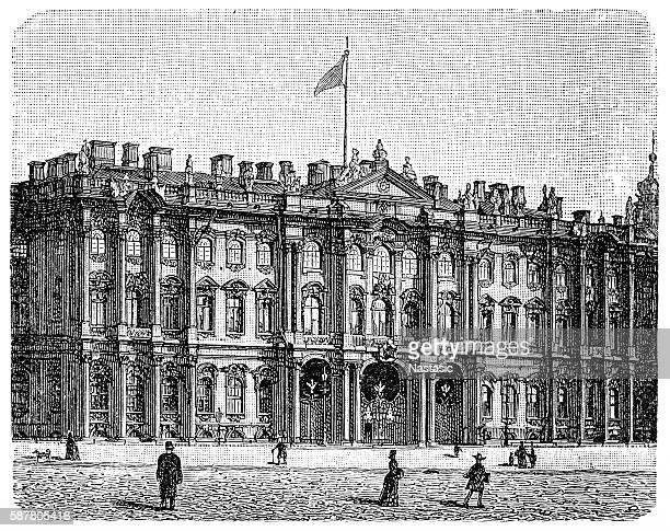 ilustrações, clipart, desenhos animados e ícones de o palácio de inverno, em são petersburgo - cultura russa