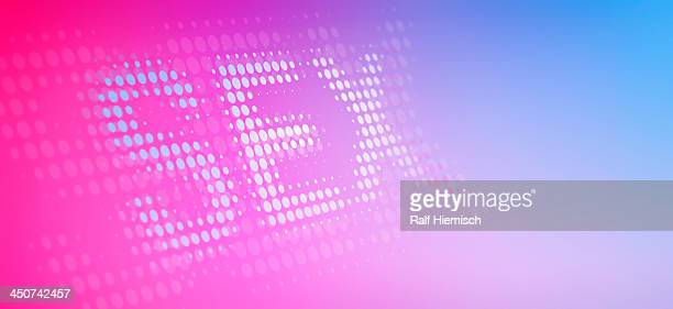 the word sex, made from dots, reflected against color gradient background - colour gradient stock illustrations