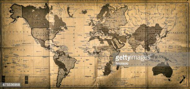 the world map - antique stock illustrations, clip art, cartoons, & icons