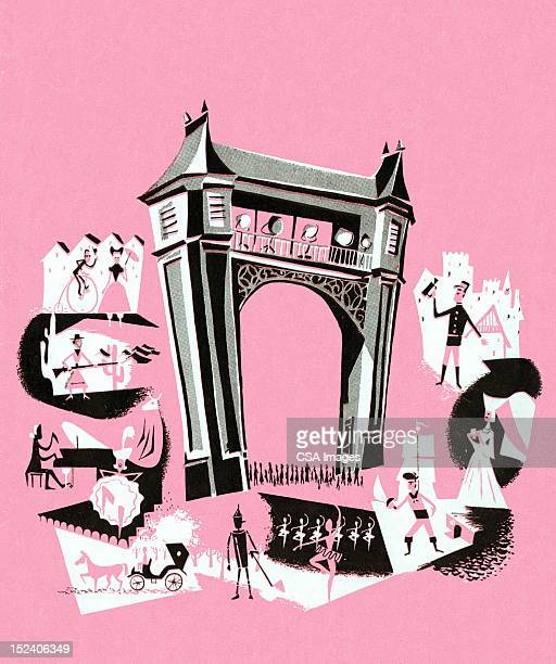 theater stage - actor stock illustrations, clip art, cartoons, & icons