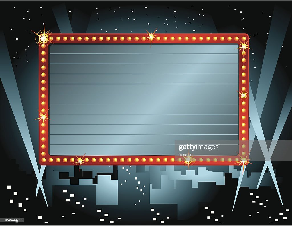 Theatre Sign : stock illustration