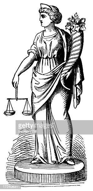 bildbanksillustrationer, clip art samt tecknat material och ikoner med themis (goddess of law) - grekisk gudinna