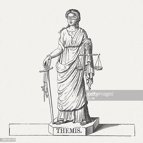 ilustrações de stock, clip art, desenhos animados e ícones de themis-titaness grega antiga - legal system