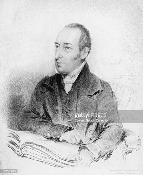 Theological writer and poet Joseph Blanco White circa 1810 Engraved by F C Lewis from a drawing by English sculptor William Behnes