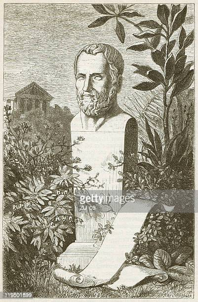 theophrastus of eresos (c.371-287 bc), greek philosopher, published in 1882 - philosophy stock illustrations