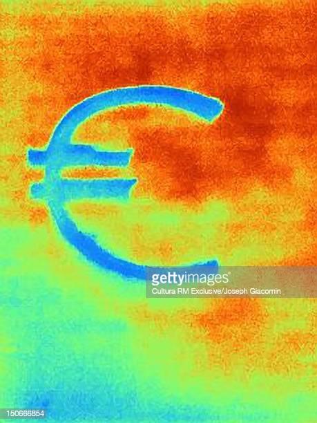 thermal image of euro symbol - 熱映像点のイラスト素材/クリップアート素材/マンガ素材/アイコン素材
