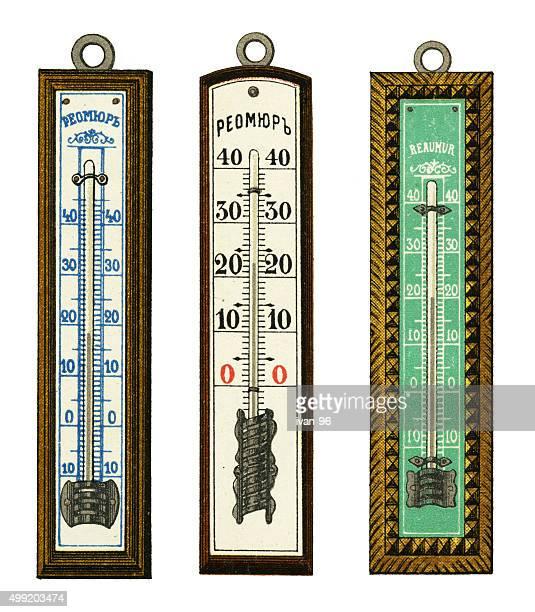 ilustraciones, imágenes clip art, dibujos animados e iconos de stock de termómetro - termometro mercurio