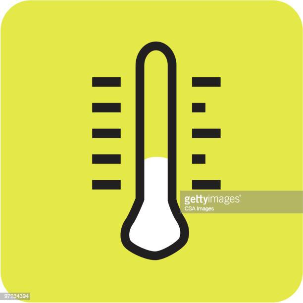 thermometer - instrument of measurement stock illustrations