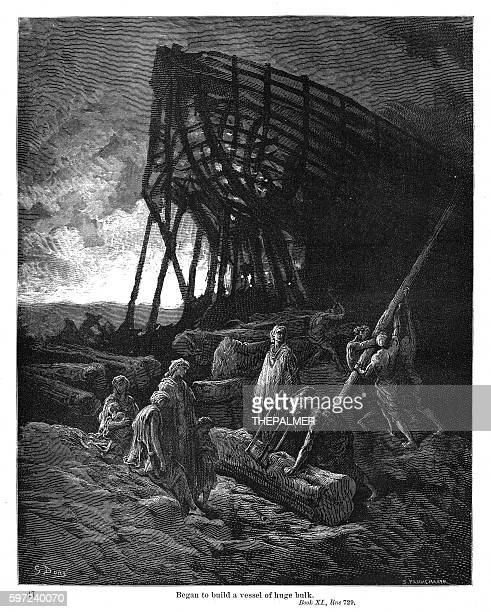 They began to build a vessel engraving 1870