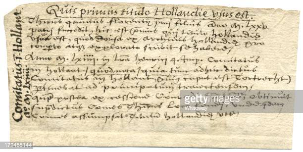 Latin handwriting County of Holland 17th century writing
