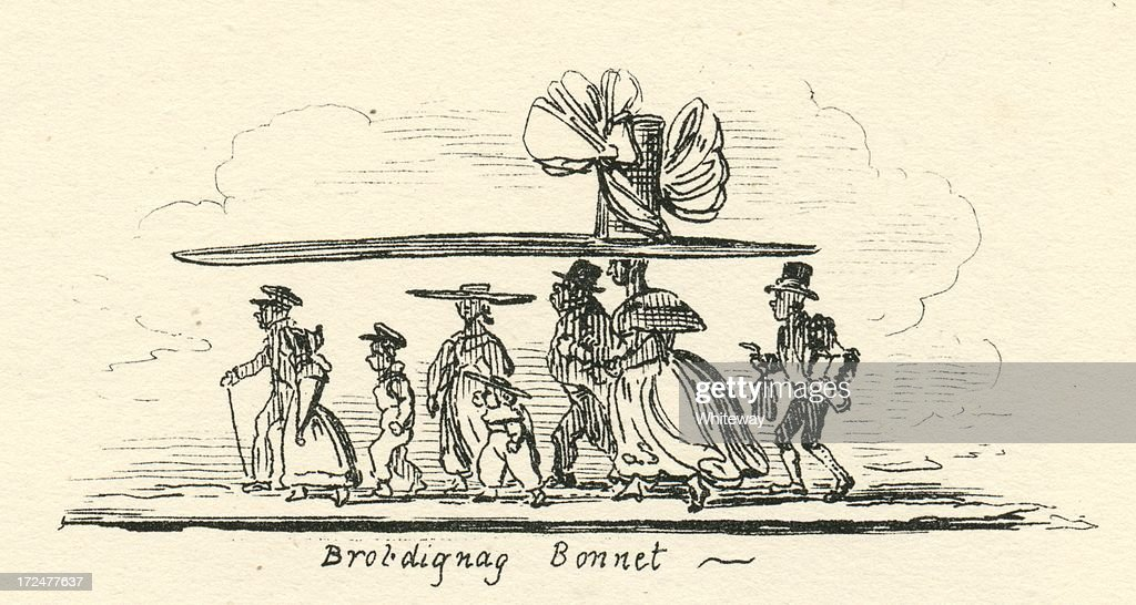 nouveau produit 59d89 1b199 Humour Brobdignag Bonnet Cruikshank 19th Century Cartoon ...