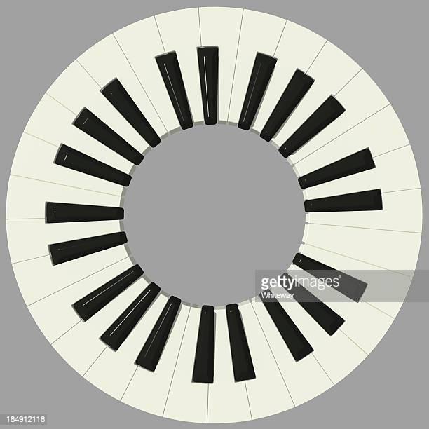 ilustraciones, imágenes clip art, dibujos animados e iconos de stock de teclado de piano durante 49 llaves de vista - tecla de piano