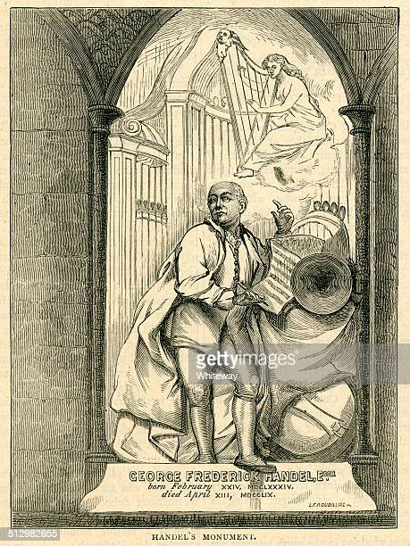 225 のモニュメント messiah ウエストミンスター寺院 composer - ジョージ ヘンデル点のイラスト素材/クリップアート素材/マンガ素材/アイコン素材