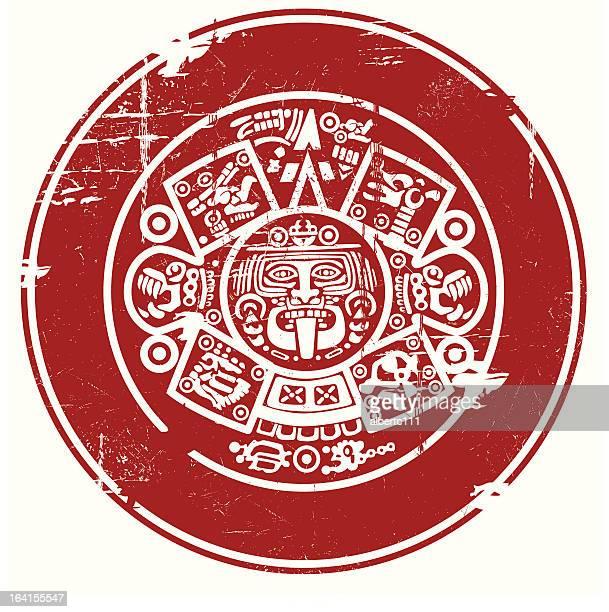 Calendrier Maya Signe.30 Meilleurs Calendrier Azteque Illustrations Cliparts