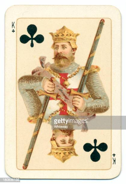 Plantagenet King of Clubs playing card Goodall 1895