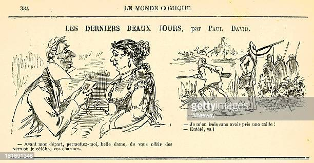 Humour French cartoons from Le Monde Comique 19th century