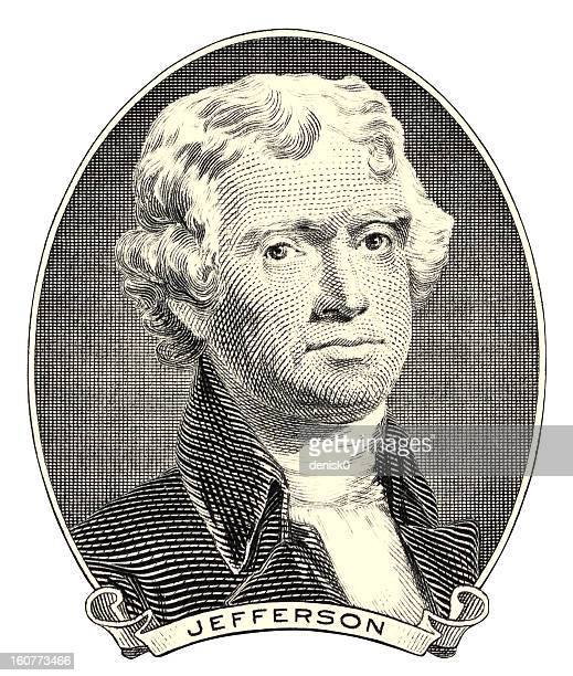 thomas jefferson - declaration of independence stock illustrations