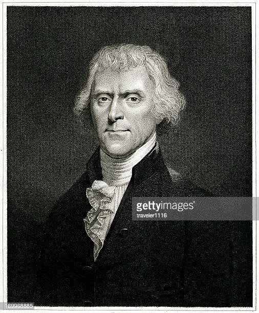 thomas jefferson - portrait stock illustrations