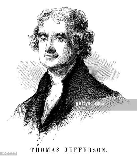 thomas jefferson - thomas jefferson stock illustrations, clip art, cartoons, & icons