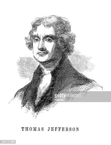 thomas jefferson us president - thomas jefferson stock illustrations, clip art, cartoons, & icons
