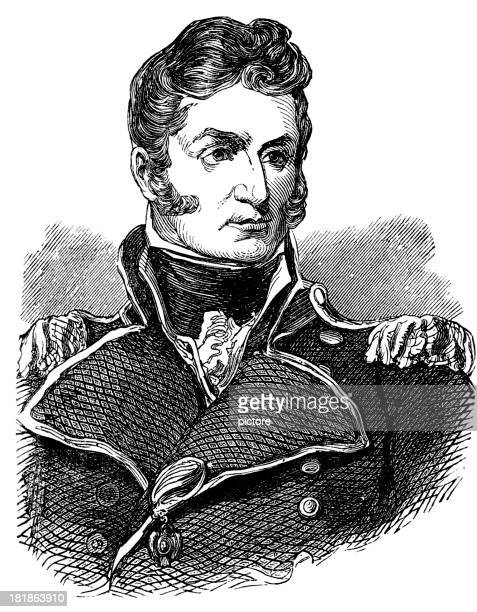 thomas macdonough, u.s. navy (war of 1812) - us navy stock illustrations, clip art, cartoons, & icons