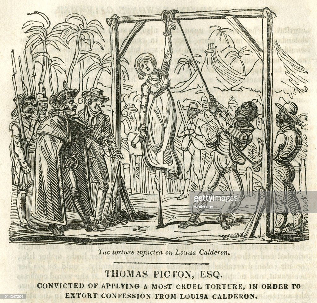 Thomas Picton, convicted of torture : stock illustration