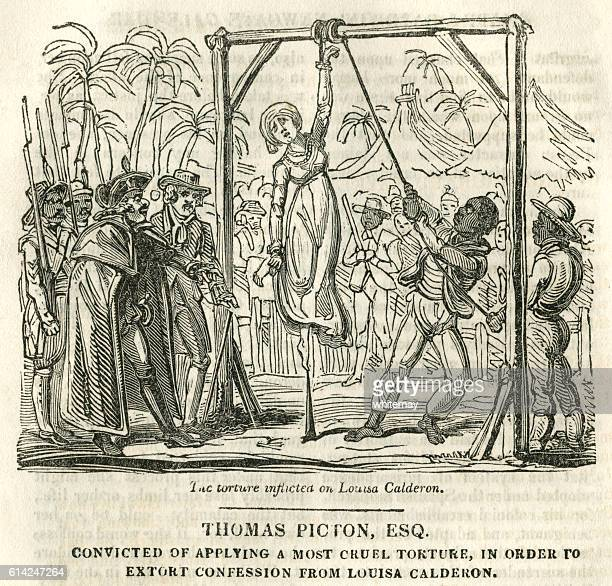 thomas picton, convicted of torture - infamous stock illustrations, clip art, cartoons, & icons