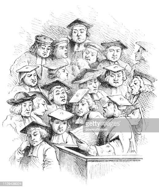 Thomas Warton Teaching a Lesson at Oxford by William Hogarth - 19th Century