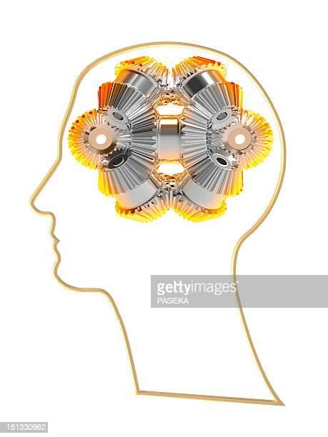 thought process, artwork - mri装置点のイラスト素材/クリップアート素材/マンガ素材/アイコン素材