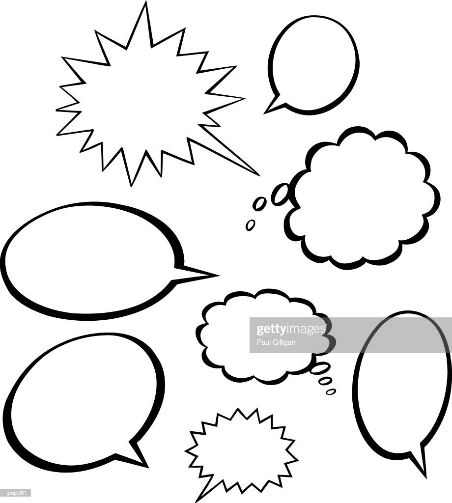 Thought & Word Balloons : Stockillustraties