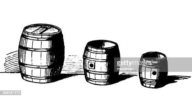 Three barrels of beer - 1867
